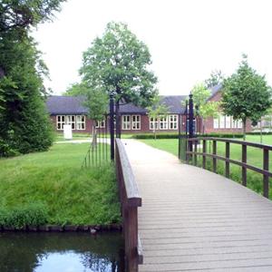 gebouw in het park